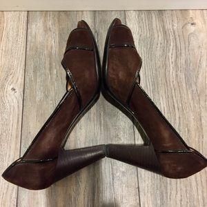 Sofft Shoes - SOFFT Throwback 1940's Dark Brown Suede Heels